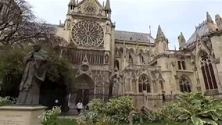 Walking tour of Notre Dame Cathedral, Paris