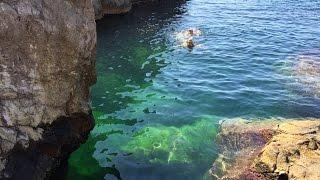 Дикие пляжи Симеиза. Скала Дива(Выходной можно провести по-разному.Просто проваляться целый день на диком черноморском пляже под тёплыми..., 2015-07-22T02:58:46.000Z)