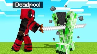 Playing MINECRAFT As DEADPOOL! (Superhero)