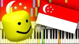 Majulah Singapura(Singapore National Anthem) But It's Roblox Death Sound!!!