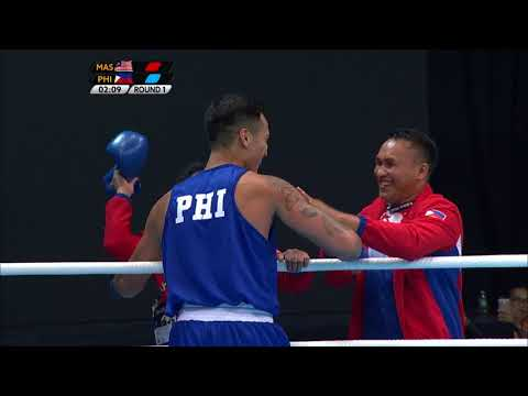 KL2017 29th SEA Games | Boxing - 75kg-81kg FINALS - 🇲🇾 MAS vs 🇵🇭 PHI | 24/08/2017