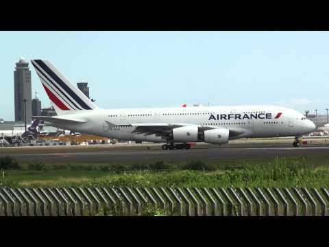 Air France Airbus A380 - Narita International Airport RWY16R -