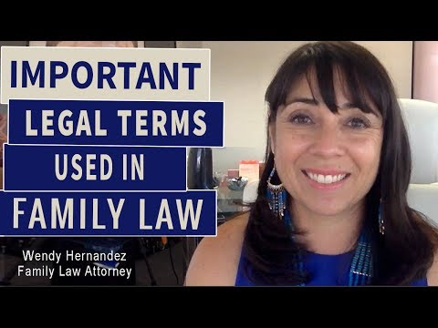 Some important Legal Terms Used in a Family Law Case