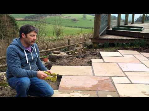 Pointing Sandstone Paving In Chepstow