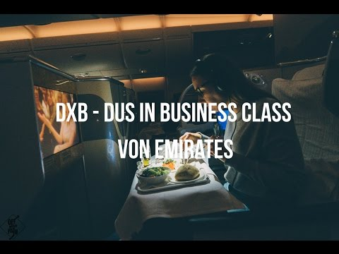 RÜCKFLUG DUBAI - DÜSSELDORF IN BUSINESS CLASS BEI EMIRATES (FROHE WEIHNACHTEN)