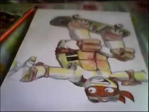как нарисовать #2 черепашки-ниндзя мики