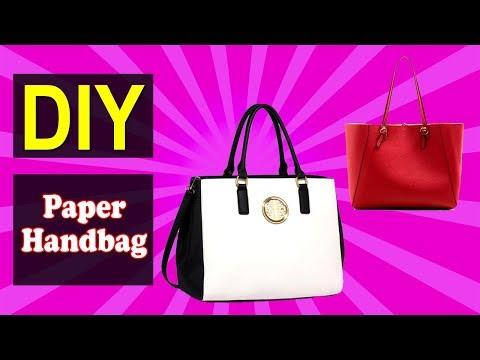 How to Make Paper Handbag 01   Easy DIY Paper Handbag   Why Crafts