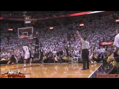 [HD] Ray Allen MIRACLE Shot vs Spurs [Game 6 Finals]