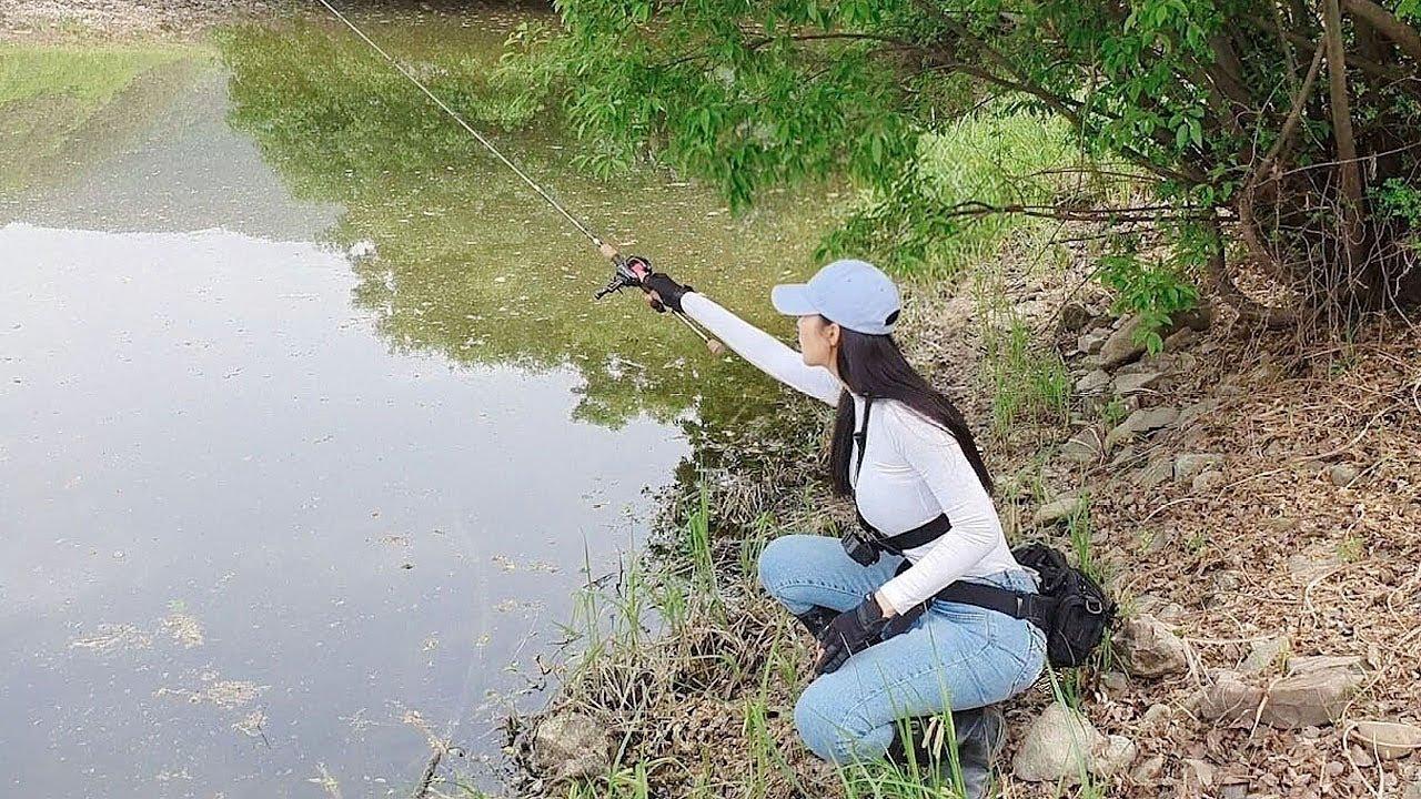 새로운 저수지 발견!!!!!! It's my first time fishing in this reservoir. 배스 낚시 합천 탐사 성공