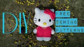 DIY Hello Kitty/ МК фетровая мягкая игрушка