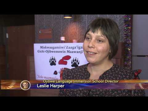 Immersion Schools Focus of Ojibwe Language Summit - Lakeland News at Ten - December 17, 2013