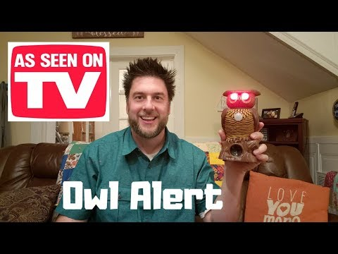 Owl Alert review: bulbhead ultrasonic pest deterrent - as seen on TV product review