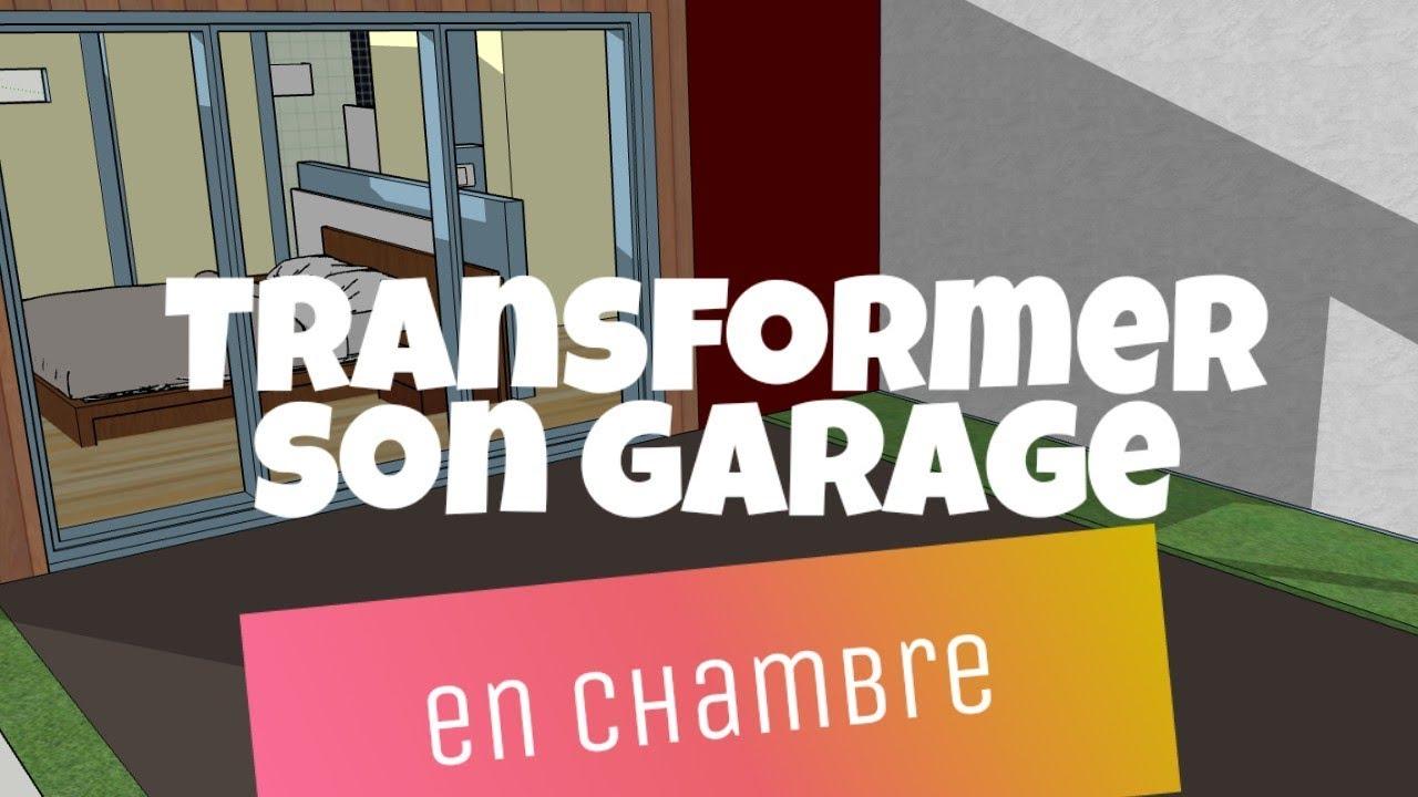 transformer son garage en chambre avec salle de bain et sans permis si possible