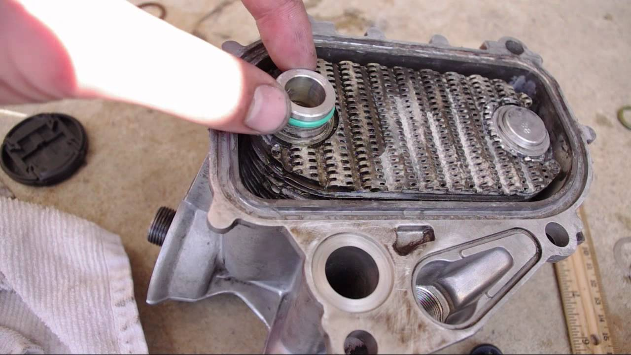 How To Replace Seals On A Leaking 944 Oil Cooler Youtube