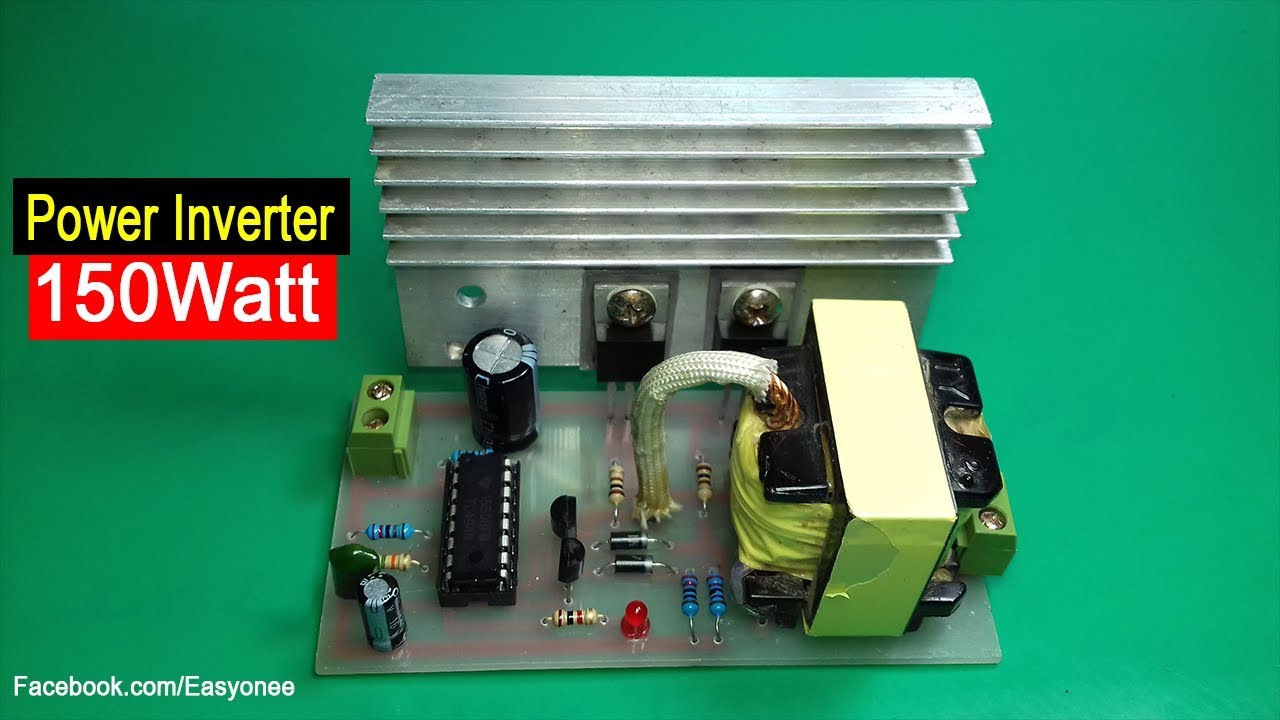 How To Make Inverter 150 Watt Using Tl494