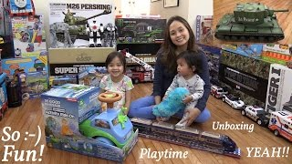 Disney Pixar The Good Dinosaur Activity Ride-On Vehicle, Bump & Go Toy Train and a Tank!