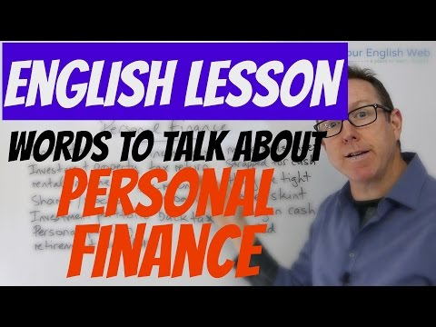 English lesson - How to talk about personal finance