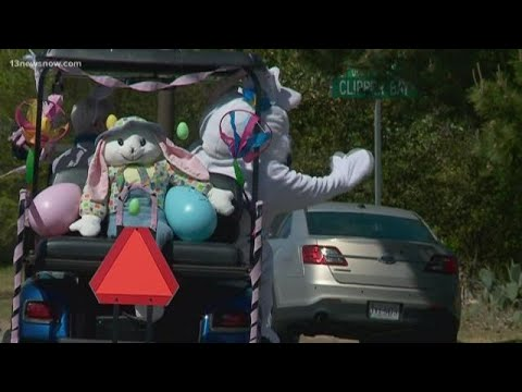 Virginia Beach Neighborhood Holds Easter Bunny Parade