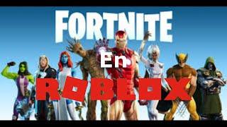 Tremenda batalla me hago en Fortnite de ROBLOX!!!