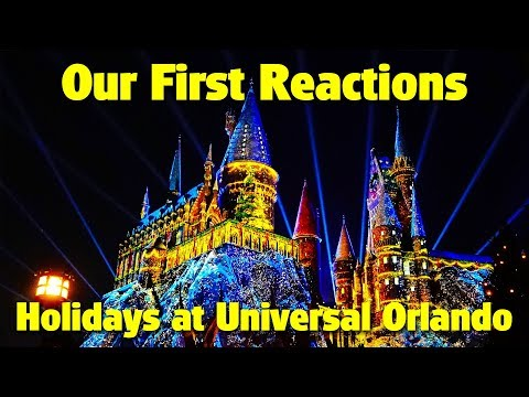 Our First Reactions to Holidays at Universal Orlando