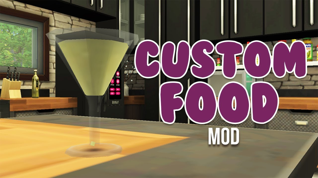 Custom Food Alcoholand More Mod The Sims 4 Mods Youtube