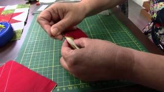 Centro de Mesa Natal Patchwork por Maria Elisa Fumache – Parte 1