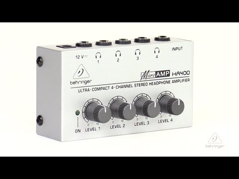 MICROAMP HA400 Ultra-Compact 4-Channel Stereo Headphone Amplifier