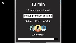 Uber-(New Driver App) Now You Can See The Direction/Time  Riders Are Going BEFORE Accepting The Trip