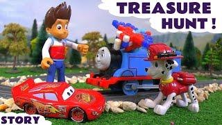 Paw Patrol Treasure Hunt with Thomas The Tank Engine & Disney Cars McQueen - Hunt the Qixels TT4U