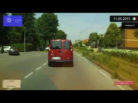 Driving through Monza e Brianza (Italy) from Limbiate to Muggiò 11.05.2015 Timelapse x4