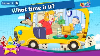 Lesson 9_(A)What time is it? - Time - Cartoon Story - English Education - Easy conversation for kids