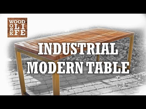 Making a commercial modern table | Woodworking instructions & tips