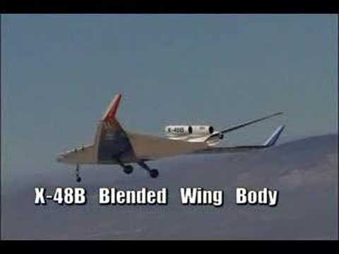 Boeing X-48B Blended Wing Body first flight