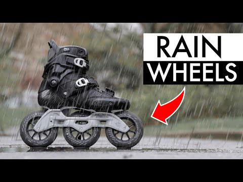 INLINE SKATING WITH RAIN WHEELS