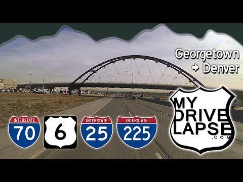 Around Denver, to Aurora on I-70, I-25, US 6 Dashcam