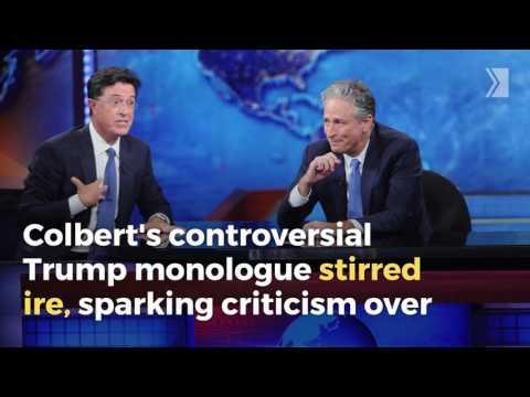 Jon Stewart Defends Stephen Colbert S Trump Sex Joke In Daily Show Reunion Youtube