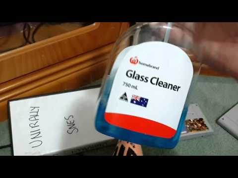 Cleaning game cartridges with windex snes