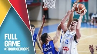 Italy v Finland - Full Game - Quarter Final - FIBA U18 European Championship 2016