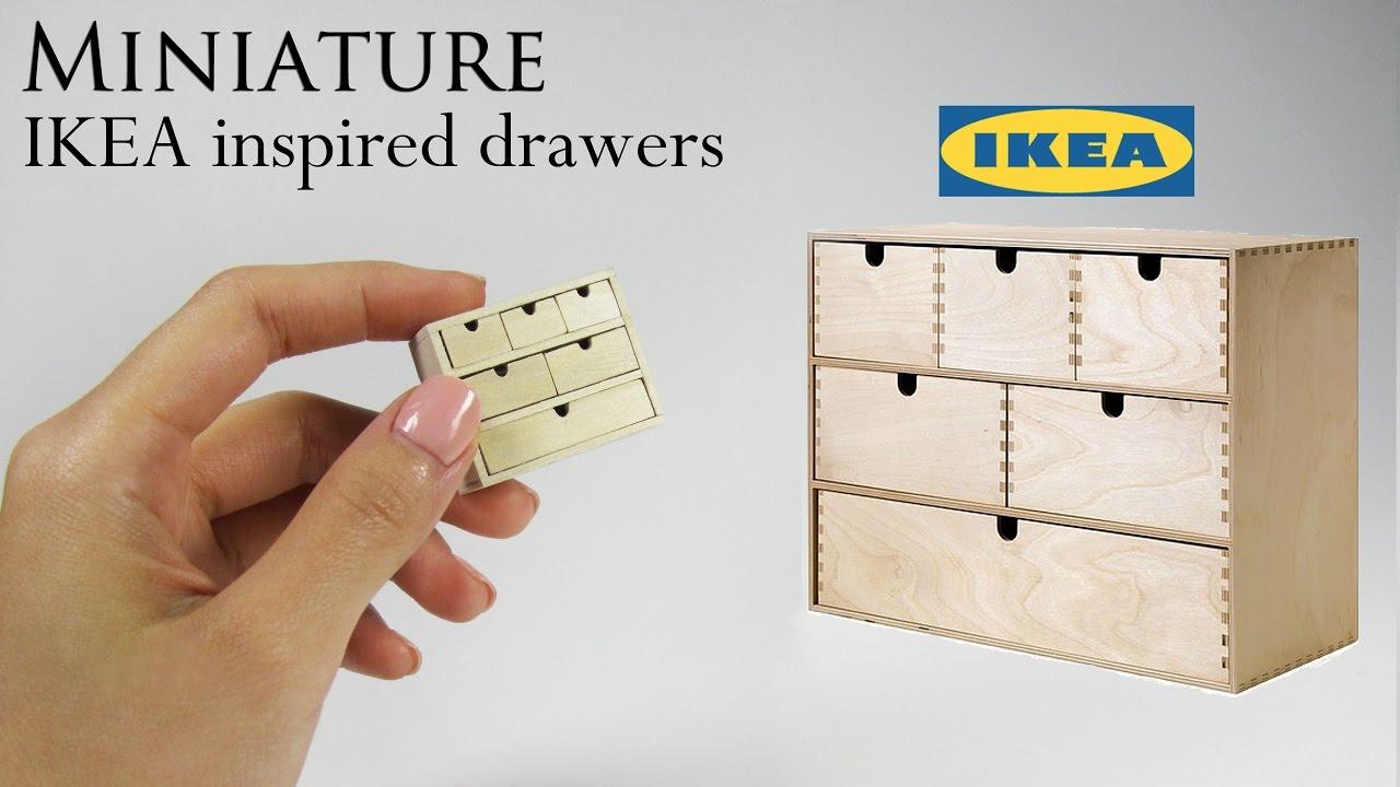 DIY Miniature: IKEA Drawers - YouTube