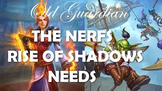 Rise of Shadows meta and the nerfs needed to make it better (Hearthstone)