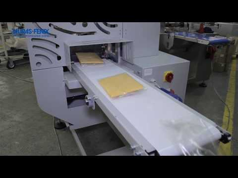 Индивидуальная упаковка тряпок для мытья на упаковочной линии ЛИНЕПАК Ф3М