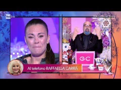 Raffaella Carrà chiama Bianca Guaccero che scoppia in lacrime - Detto Fatto 20/12/2018