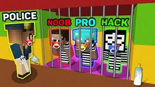 Minecraft NOOB vs PRO vs HACKER vs POLICE : HOW TO ESCAPE FROM BABY PRISON? IN MINECRAFT! ANIMATION!