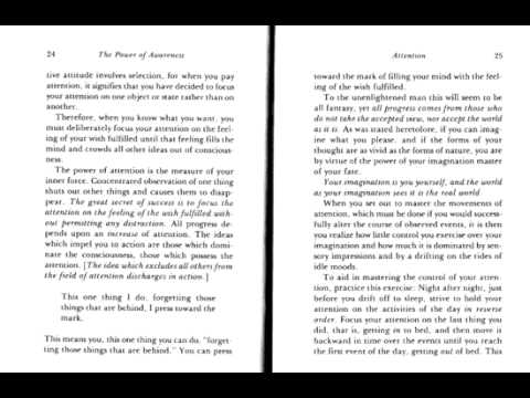 Power of Awareness Ch. 6 Attention