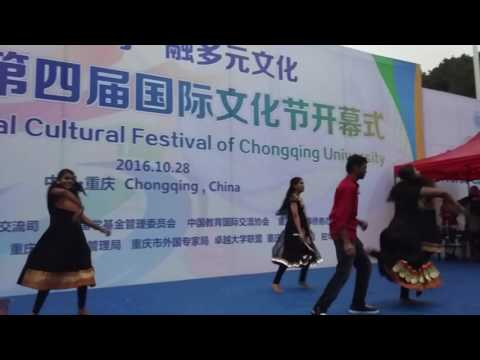 Chongqing University Cultural Festival 2016 Indian Performnace