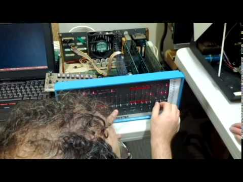 Altair 8800 loads 4K BASIC from paper tape
