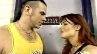 Lita and matt hardy backstage