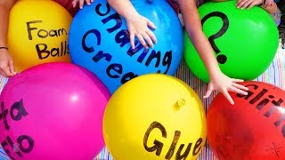 Slime Giant Sized - Making Slime with Giant Balloons! DIY Slime with Balloon Popping! No Borax! thumbnail