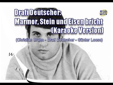 Karaoke Version - Marmor, Stein Und Eisen Bricht (Original 1965)