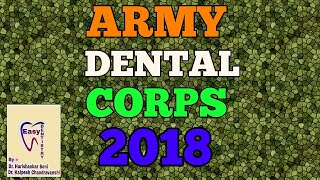 ARMY DENTAL CORPS- 2018, 34 POSTS OF COMMISSION OFFICERS